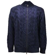 9670AC cardigan uomo ETRO lupetto wool full zip blue sweater men