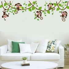Cartoons Wall Sticker The Monkey Climbing the Tree Funny Stickers for Kid's Room