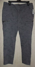 NWT WOMENS Gap GRAY CAMOUFLAGE LIGHTWEIGHT DENIM LEGGING / SKINNY PANT  SIZE 12