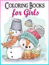 Coloring Books For Girls, Children Activity Books Hobbies Fun Kids Animals NEW