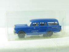 """Brekina MB 190 combi azul """"auto casa círculo OHG servicio posventa"""" embalaje original (r8587)"""
