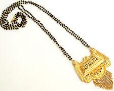 "26"" Indian Wedding Saree Skirt Jewelry Pendant Mangalsutar Beads Chain Mala #12"