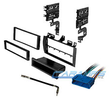 cadillac car stereo radio replacement installation kit dash trim w/ wire  harness