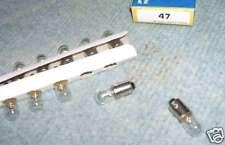 10 ampoules neuve #47   6,3V 0.15A avec culot  BA9S flipper pinball