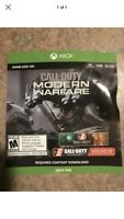 CALL OF DUTY : MODERN WAREFARE Xbox One *Instant DLC Add-On Only, No Disc!