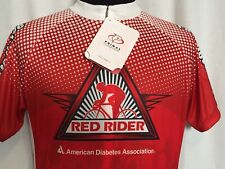Primal Cycling Jersey Large L Red Rider Diabetes Tour De Cure Red Mens