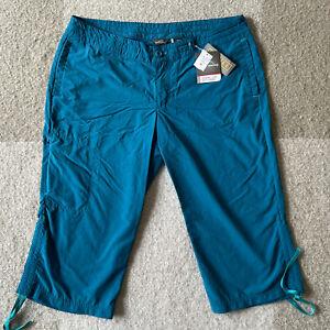 NWT Eddie Bauer Travex Lite UPF Capri Pants Women's Size 16 Teal Lightweight