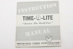 Time-O-Lite Dakroom Timers Instruction Manual Guide Booklet - English USED B216G