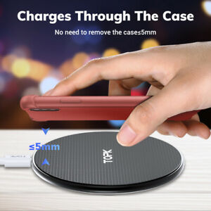 Fast Qi Wireless Charger +USB For Portable Charger Pad BRAND NEW!!!-CSB TOPK