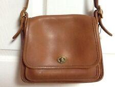 "Vintage iconic COACH ""Rambler's Legacy"" leather Handbag purse hand bag women tan"