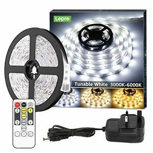Lepro 5M LED Strip Lights, Warm White to Cool Daylight, Dimmable and Tunable