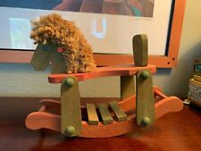 Wooden Rocking Horse Vintage Unique Rare Very Cool Horse Wow
