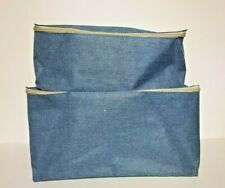Set of 2 Smart Home Blue Zippered Storage Bags