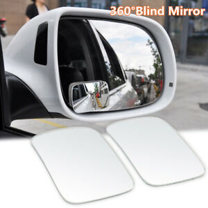 2pcs Universal 360° Cars Wide Angle Convex Rear Side View Blind Spot Mirror