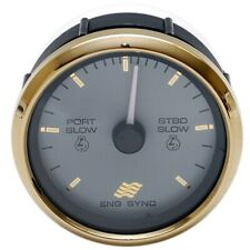 Faria Boat Engine Synchronizer Gauge SY9758A | Signature Gold Series