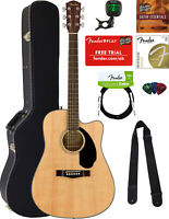 Fender CD-60SCE Dreadnought Acoustic-Electric Guitar - Natural w/ Hard Case