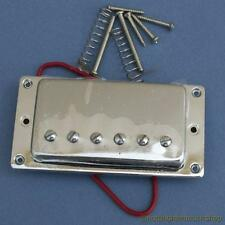CHROME HUMBUCKER GUITAR PICKUP WITH CHROME METAL SURROUND HUMBUCKING NEW