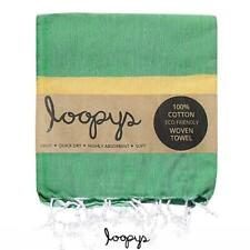 Loopys Green & Yellow Stripe premium Turkish Towel Beach Bath Pool Travel Hammam