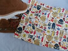Hand Made Travel Shoe-Storage Bag with Fire Fighter Motif