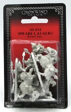 Ral Partha 02-034 Dwarf Cavalry (Set of 3) Ram Riders Mounted Dwarven Raiders
