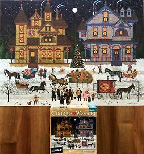 1000 piece JIgsaw Puzzle Victorian Christmas by Charles Wysocki.