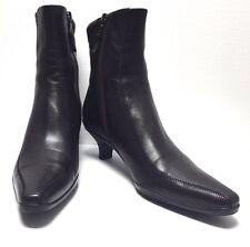 """PRADA Women's Ankle Booties Brown Leather Kitten Heel  US 6.5(M)/EUR 36 1/2/ 10"""""""