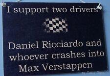 Daniel Ricciardo Wrecks Max Verstappen Formula One 1 Grand Prix GP Red Bull Sign