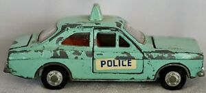 Vintage Mecanno Dinky Toys 270 Ford Escort Not Panda Police Car 1/43