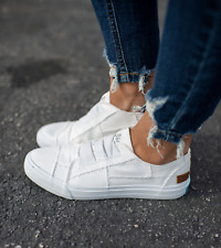 Blowfish Malibu Marley Fashion Sneaker White Color Washed Canvas Slip On
