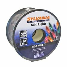 NEW 120 Feet Sylvania 500 Mini Mult-Color Christmas Lights with Green Wire