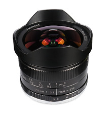 ✮ 7Artisans 7.5mm f/2.8 FishEye manual lens for Canon-EOS-M mount ✮ 7.5/2.8