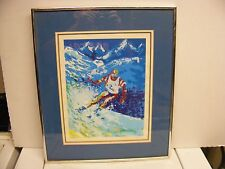 TED TANABE  lithograph  SKIER