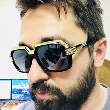 Fashion Gold Metal Bar Gazelle Rectangle Aviator Men Women Designer Sunglasses