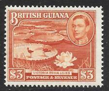 British Guiana 1952 $3 Red-Brown Perf. 14x13 SG 319b (Mint)