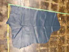 """Italian Cowhide leather skin Cow hide Prussian Blue 21""""x42"""" inch 0.8mm 2oz"""