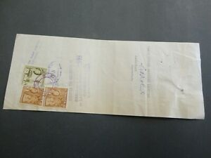 MALTA BILL OF EXCHANGE WITH STAMPS