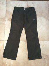 Lucky Brand Dungarees Green Cargo Pants Size 14 32 Made in The USA Cotton Hippie