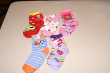 LOT OF 5 GIRLS SZ 7-8.5 EASTER, VALENTINE, & SPORTS SOCKS NWT