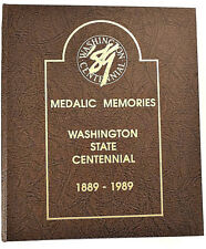 Washington State 1889-1989 Centennial Medals Wooden Nickles Uncirculated 51 Set