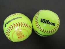 Lot of 2 Wilson A9106 Fast Pitch Sst Softballs - Original Cellophane - New!