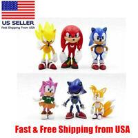 6PCS Sonic The Hedgehog Action Figure Kid Toy Set
