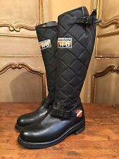 NOS HARLEY DAVIDSON RACING XR 750 Women's Motorcycle Riding TALL Boots Size 6.5