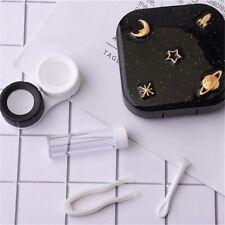 Starry Sky Portable Contact Lens Case 1Set Tweezer Eye Care Kit with Mini Mirror