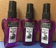 (3)1.7oz Sexiest Fantasies Dancing All Night Body Spray Perfume Fragrance Rare!