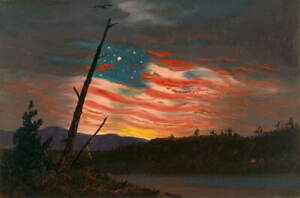 Frederic Edwin Church Our Banner in the Sky Poster Giclee Canvas Print