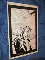 NIGHTWING Annual #1 Original Art Page #18 by Greg Land ~Batman/Signed Bob McLeod
