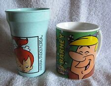 FLINTSTONES - 1993 BARNEY RUBBLE COFFEE CUP & 1994 UNIVERSAL STUDIOS PEBBLES CUP