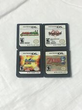 Lot of 4 Nintendo DS Games Zelda Phantom Hourglass Mega Man StarForce Leo