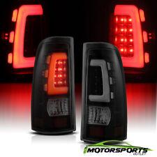 Fit 99-02Chevy Silverado/99-06 GMC Sierra Smoke LED White Tube Tail Lights Pair