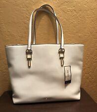 Nine West White Griselda Tote Handbag